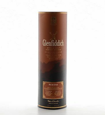 Glenfiddich Container Tin 14 Year Old Rich Oak Empty