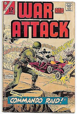 War and Attack #58 (Charlton 1967) fine 6.0