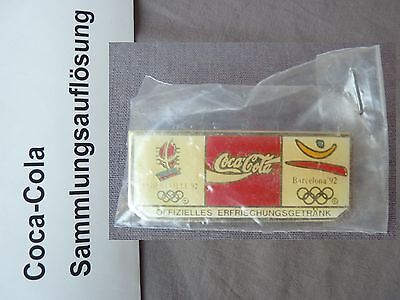 Coca Cola PIN 1992 Barcelona Alberville Olympia Olympic Games Olimpiadi