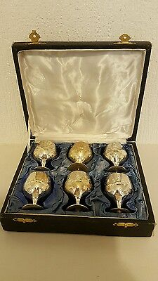 Set Of Boxed Silverplated Small Goblets