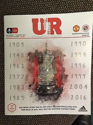 Manchester United v Reading FA Cup 3rd Round Official Matchday Programme