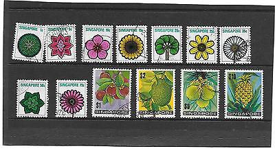 Singapore 1973  Defintive  Flowers  &  Plants  Fine  Used  Sg.212 - 214