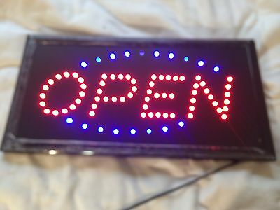 """Bright Animated LED Open Store Shop Business Sign 19""""x10"""" Display Lights"""