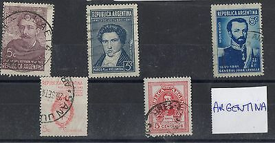 Argentina 1 Stock card nice lot of stamps Mint and Used
