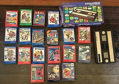 Intellivision-1981 Game Console in Original Box With 19 Games! Like New!