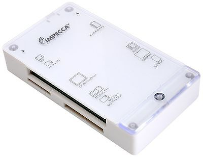 Impecca CRB60 All-in-1 Multiple Card Reader for M2 Micro SD MS Pro Duo X-Memory