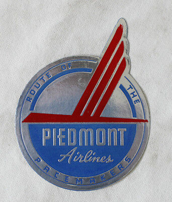 PIEDMONT AIRLINES Bag Luggage vintage tag sticker 1950's
