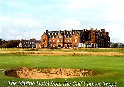 Marine Hotel from the golf course - Troon - Scotland - Postcard