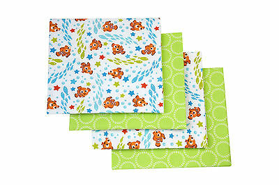 "Disney Finding Nemo Flannel Blanket,4 Pack 30""X30"" EA"