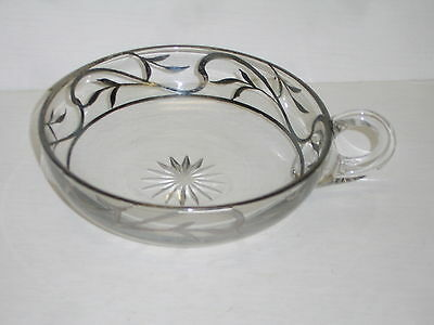 ? Antique 1912 Westmoreland Colonial Lady Pattern Handled Nappy Silver Filigree