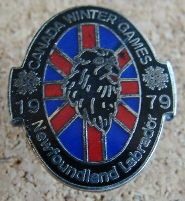 1979 CANADA WINTER GAMES NEWFOUNDLAND and LABRADOR METAL PIN