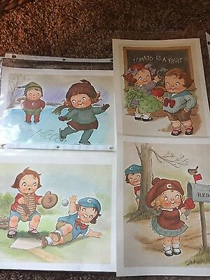 Campbells kids drawn pictures.  set of 4