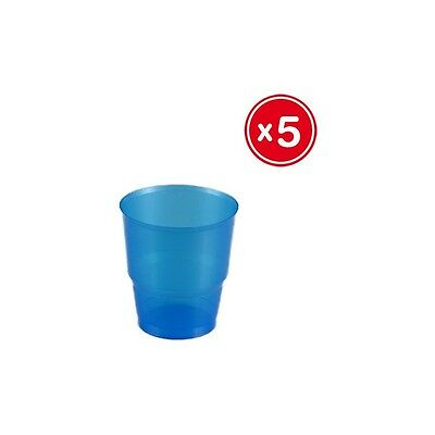 H) Vaso Irrompible Azul 220Cc., Best Products, 5Uds.