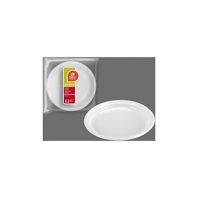 H) Plato Plástico Postre 17Cm. 4,5 Grueso, Best Products, 12Uds.