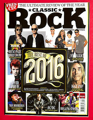 Classic Rock Magazine January 2017 BEST OF 2016 Rolling Stones Led Zeppelin
