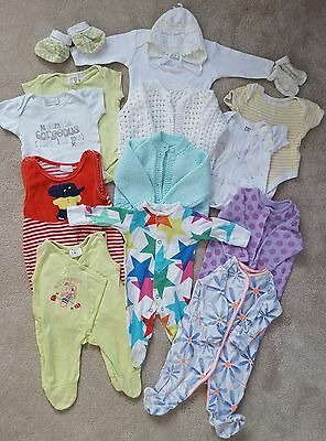 Baby Girl Bundle, Clothes Lot, Newborn 0-3 months, 15 items