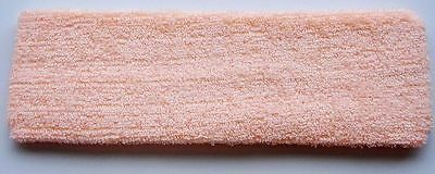 New Sports Gym Cotton Elastic Sweatbands Headband Sweat Band Peach Colour