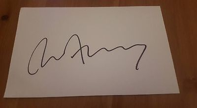 Signed Bryan Ferry Card Charity Auction Roxy Music