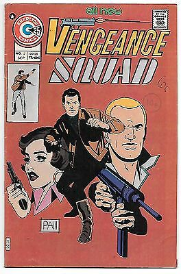 Vengeance Squad #2 (Charlton 1975) fn-vf 7.0 Nick Cuti's Michael Mauser back up