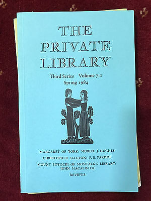 The Private Library 3rd Series Vol.7:1 1984