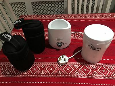 Tommee Tippee travel steriliser, bottle heater and thermal travel bags