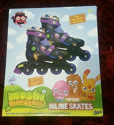 Moshi Monsters Inline Skates Roller Blades Size 9 - 12 J Junior BRAND NEW boxed