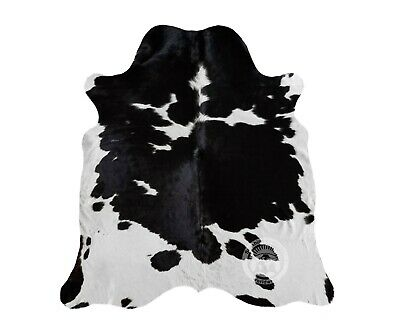 New Brazilian Cowhide Rug Leather TRICOLOR Black and White Redish 6'x8' Cow Hide