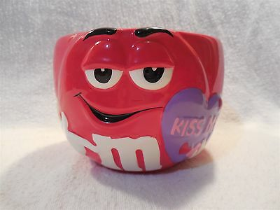 2004 M&M's Galerie Ceramic Red Valentine Candy Bowl