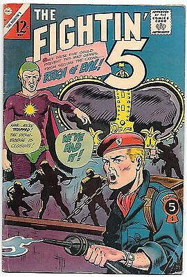 Fightin' 5 #37 (1966) fn+ 6.5 Judomaster tips backup strip