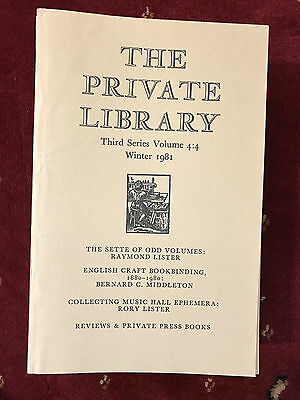 The Private Library 3rd Series Vol.4:4 1981