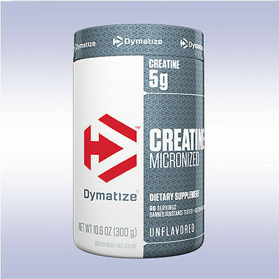 DYMATIZE NUTRITION MICRONIZED CREATINE (300 G) monohydrate powder iso 100 pure