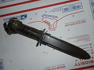 Rare M1 Carbine bayonet with leather grips and M8a1 scabbard !!!