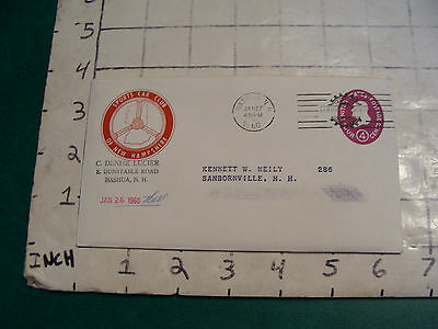 vintage SPORTS CAR CLUB of NEW HAMPSHIRE letter and envelope 1960