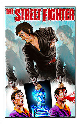 the street fighter x-ray variant art sonny chiba karate grindhouse classic print