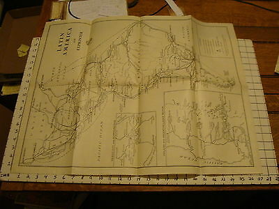 Vintage Maps: LATIN AMERICA WITH EXPRINTER