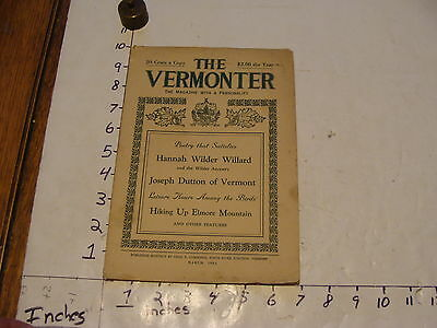 Vintage Travel Paper--THE VERMONTER--MARCH 1932