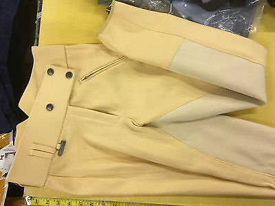 "Dublin Ladies Hi waisted Canary Full Seat Breeches 28"" Measurements as per pictu"