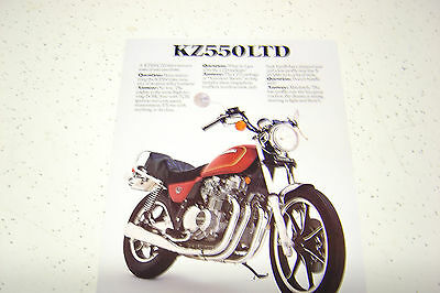 1 Kawasaki KZ550 LTD,1980 NOS. Sales Brochure.2 Pages.