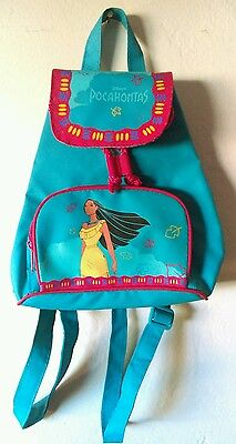 Vtg 90's Disney's Pocahontas Mini Drawstring Kids Backpack Vintage