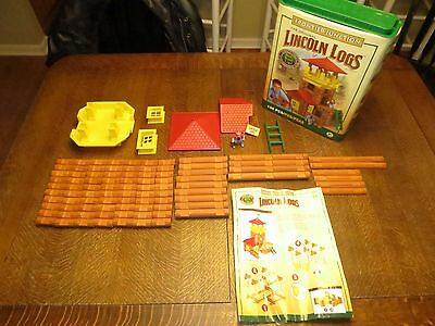 2006 Hasbro Frontier Junction #00915 Lincoln Logs.  2 pieces missing.