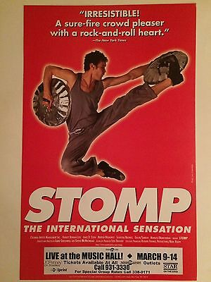 STOMP The International Sensation Live at the Music Hall Window Card Poster