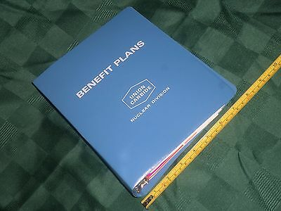 UNION CARBIDE Nuclear Division BENEFIT PLANS Handbook, 6 Booklets in Blue Binder