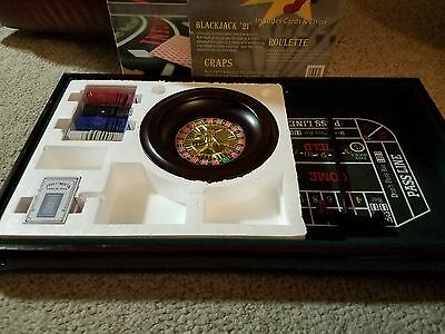 GammaX 3-in-1 Casino Game Table In Wood, Accessories Included