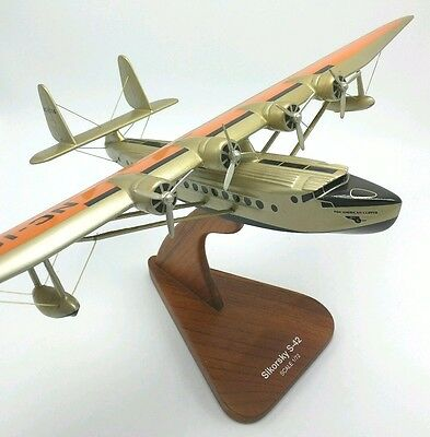 Sikorsky S-42 Pan Am Clipper Flying Boat Desk Model  Scale 1/72 S42 Art Deco PAA