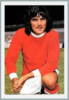 Fridge Magnet Football z George Best Man United 7cm x 4.5cm 70's Soccer Bespoked