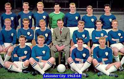 Fridge Magnet Football Leicester City 1963-64, 7cm x 4.5cm Soccer Sport Bespoked