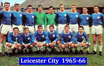 Fridge Magnet Football Leicester City 1965-66, 7cm x 4.5cm Soccer Sport Bespoked