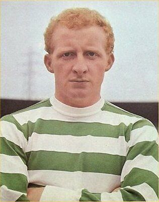 Fridge Magnet Football z Jimmy Johnstone Celtic 7cm x 4.5cm Soccer Bespoked.