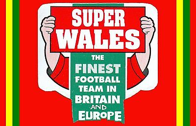 FRIDGE MAGNET Z WALES SUPER FINEST FOOTBALL TEAM IN BRITAIN & EUROPE, 7x4.5mm