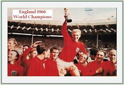 Fridge Magnet Football England 1966, 7cm x 4.5cm Soccer World Champions Bespoked